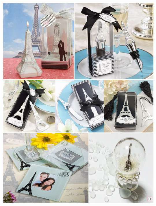 Cadeaux invites mariage paris - Deco mariage theme paris ...