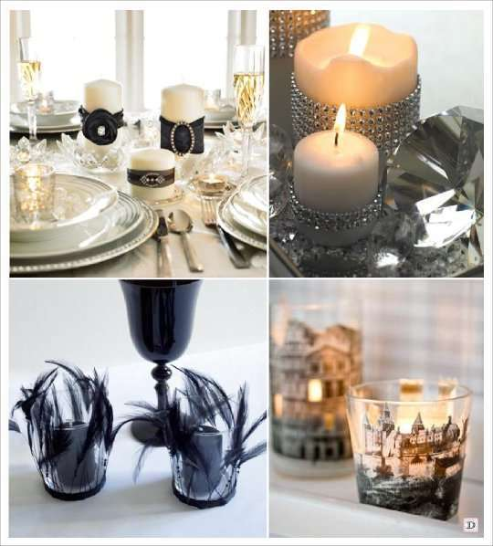 idees photophore bougie decoration table. Black Bedroom Furniture Sets. Home Design Ideas