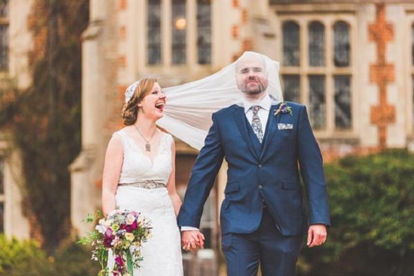 cliche mariage humoristique voile