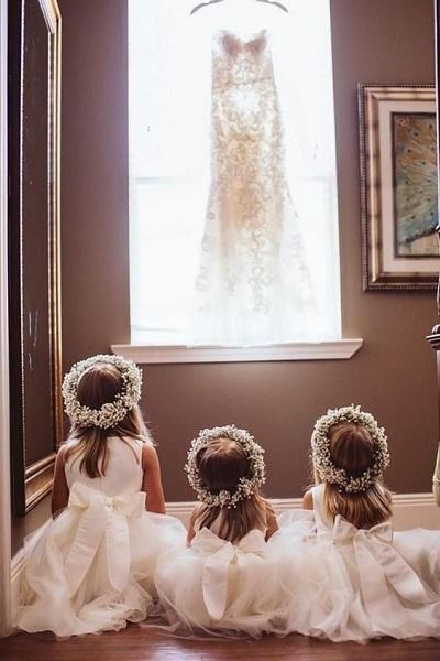 photo mariage originale petite fille