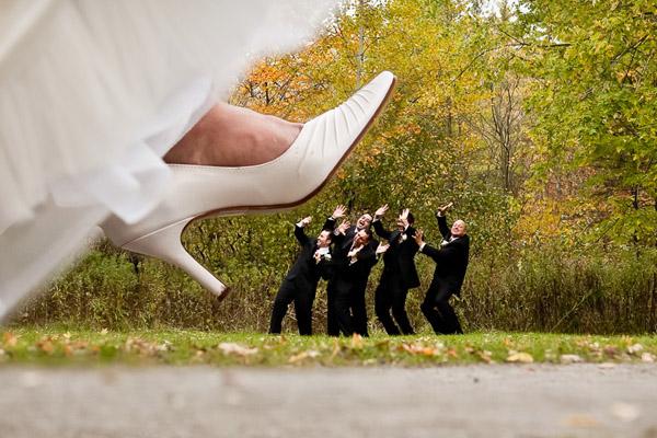 photo mariage humoristique pied