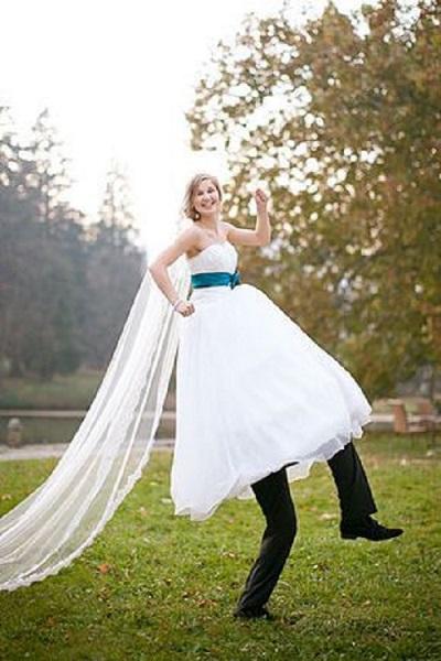 effet optique photo-mariage comique