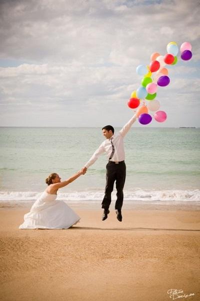 photo de mariage humour ballon