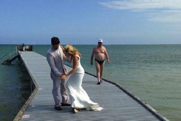 photo mariage intrus humour
