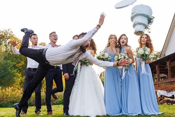 photo humoristique mariage gateau