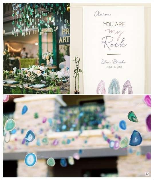 decoration mariage geode agathe suspendu salle photobooth