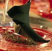 pliage serviette chaussure