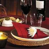 pliage serviette vin cone