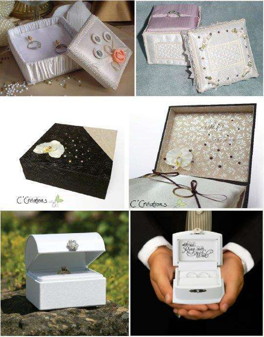 Idees porte alliances mariage - Support alliances mariage ...