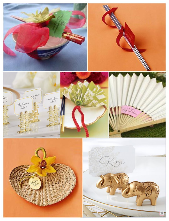 marque place mariage asie zen baguette eventail fortune cookie