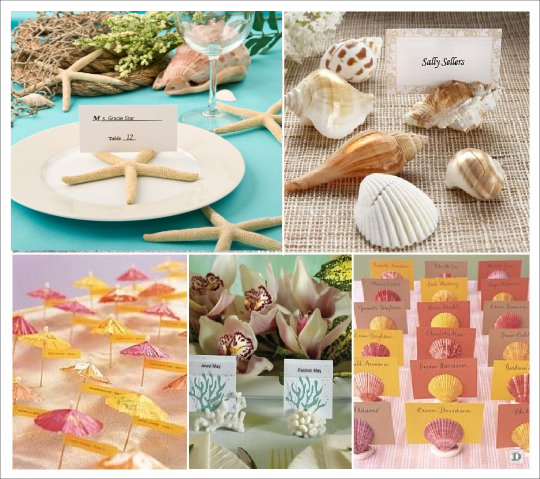 marque place mariage mer marin tong parasol coquillage