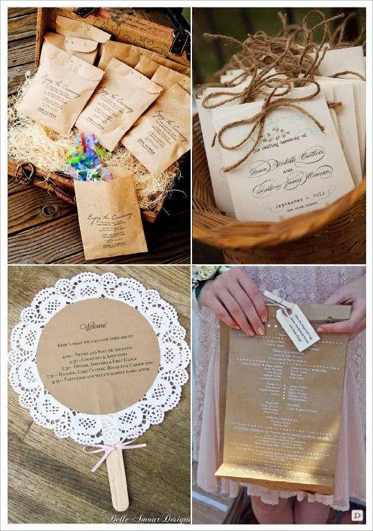 idees livret messe programme mariage sachet papier kraft goodie bag napperon papier - Exemple Livret De Messe Mariage