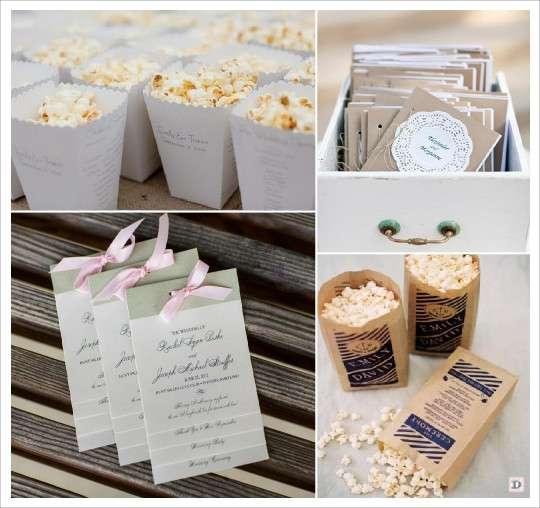 idees livret messe programme mariage carton pop corn livret en escalier - Exemple Livret De Messe Mariage