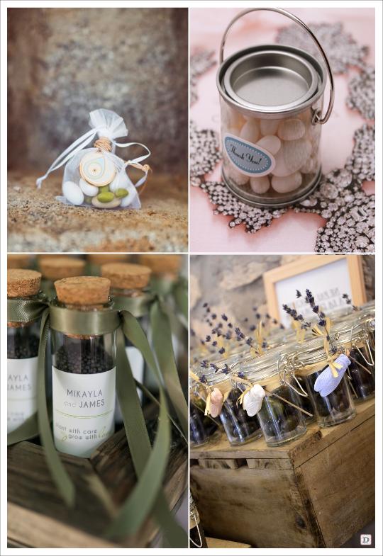 decoration mariage provence pochon à dragées éprouvette de graines pot en verre d'olives