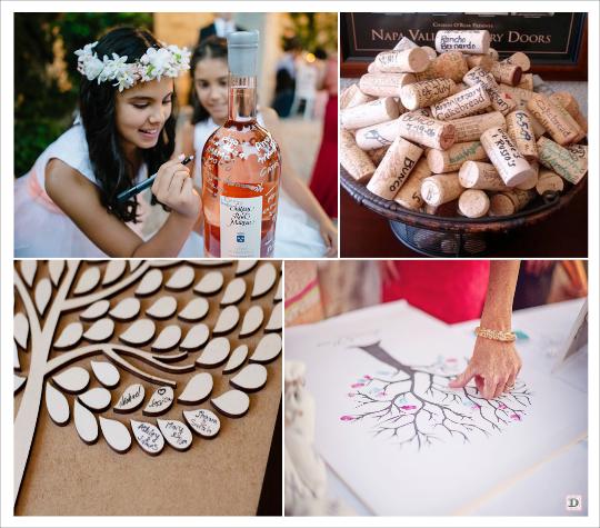 decoration mariage provence cadeaux invités calisson herbes de provence livre d'or arbre à empreintes ou signatures bouteille de vin bouchon de liège