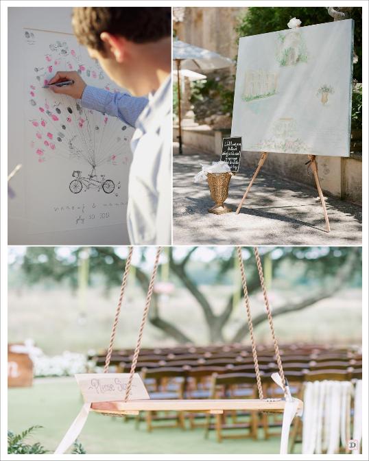 decoration mariage provence cadeaux invités calisson herbes de provence livre d'or  vélo à empreintes tableau balancoire