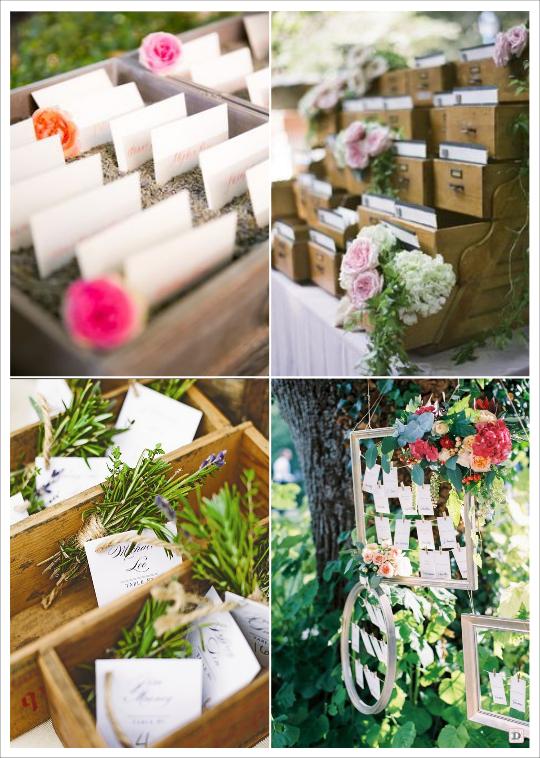 decoration mariage provence escort cards avec lavande