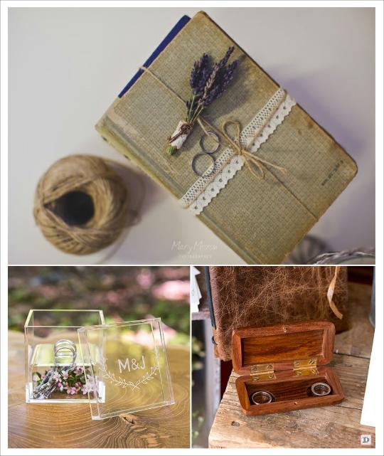 decoration mariage provence porte alliances livre écrin en plexiglas coffre en bois personnalisé