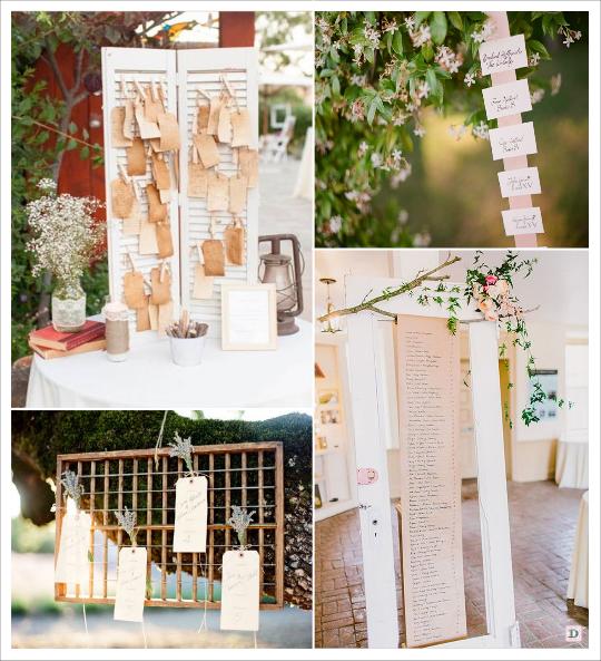 decoration mariage provence plan de table volet liste rubans suspendus