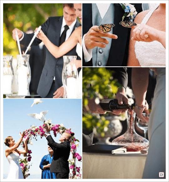 idees mariage ceremonie laique rituel lacher colombe papillon rituel de la bougie du vin