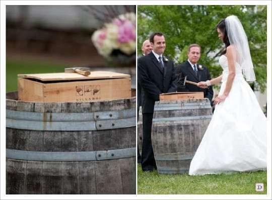 idees mariage ceremonie laique rituel de la boite caisse de vin