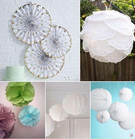decoration_salle_mariage_plafond_cocarde-papier-lampion-accordeon-boule-de-napperon-papier