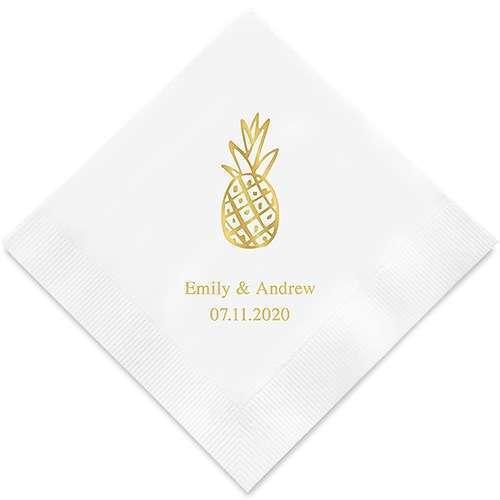 serviette personnalisée ananas