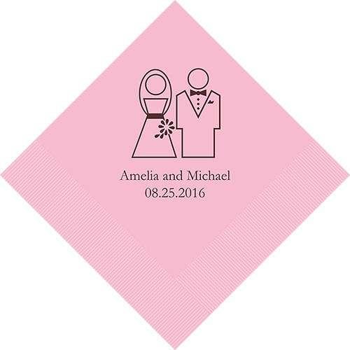 serviette personnalisée mariage
