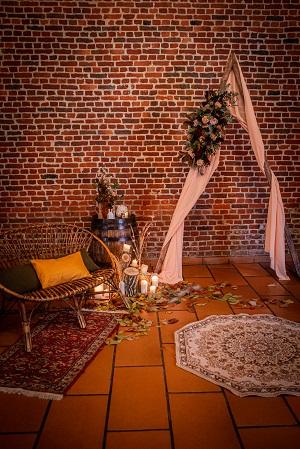 decoration ceremonie de mariage thème automne