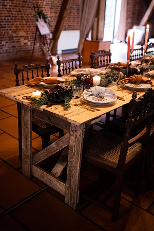 decoration mariage table automnale