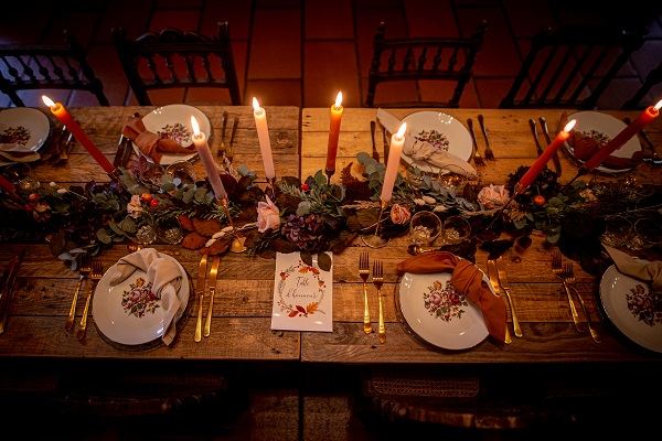 decoratiion de table mariage automne