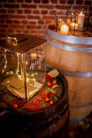 urne mariage thème automne