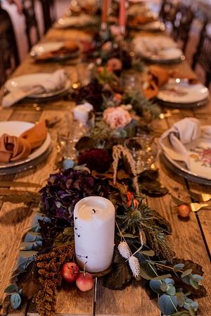 deco table automne vintage