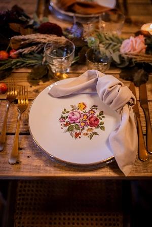 vaiselle vintage decoration mariage automne