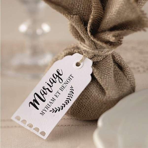 tampon etiquette dragees cadeau invités