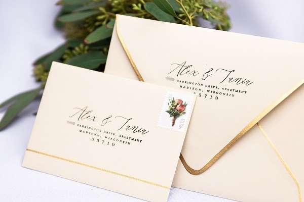 tampon personnalise mariage enveloppe adresse