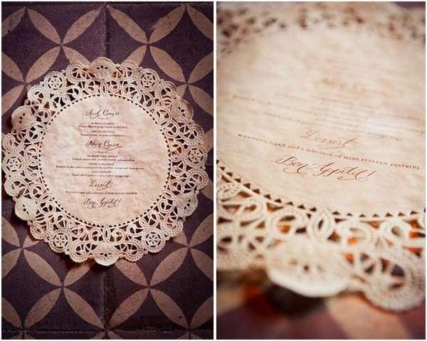 tampon personnalise menu napperon papier