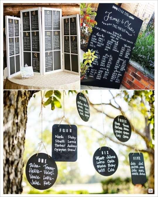 decoration mariage ardoise idées deco