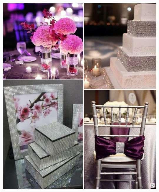 ruban de strass centre de table piece montee decoration chaise urne de mariage