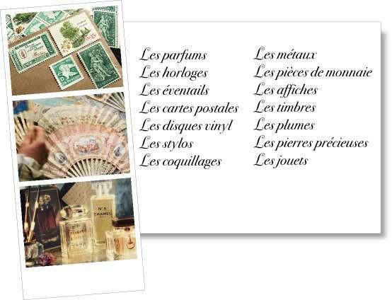 liste trouver choisir idées thème de mariage cartes postales parfum pièces de monnaie pierres précieuses timbres plume