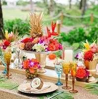 theme mariage tropical