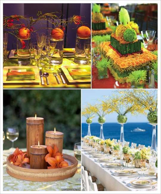 Decoration mariage tropical - La table exotique ...