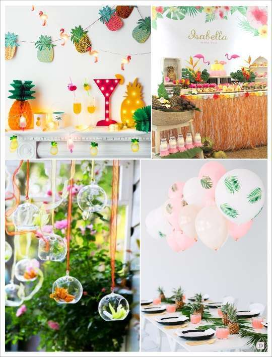 Decoration Mariage Theme Tropical