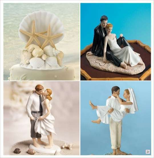 figurine gateau mariage tropical plage