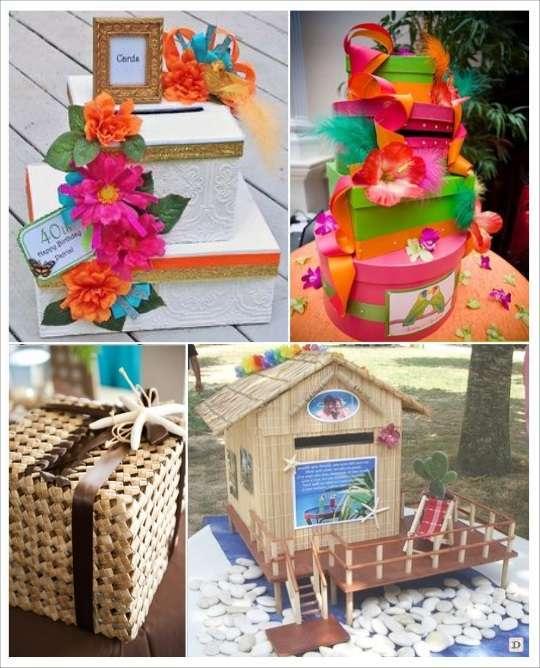 decoration mariage tropical urne mariage ronde fleurs exotiques panier case creole