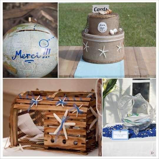 Decoration mariage tropical for Decoration urne de mariage