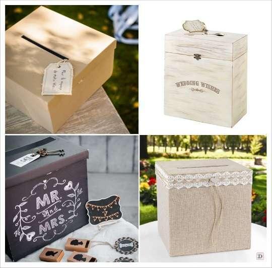 urne de mariage toile de jute lin coffre en bois