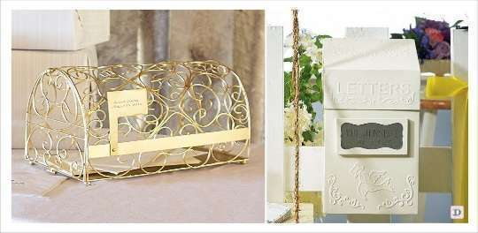 urne mariage personnalisable gravure sur métal boite aux lettres