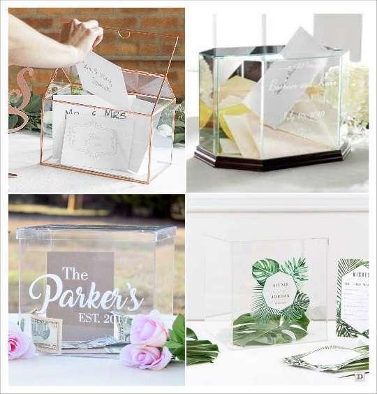 urne mariage personnalisée gravure sur verre ou plexiglas