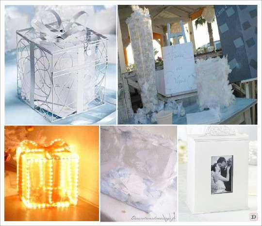 urne mariage boite photo cube grillage paquet cadeau